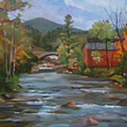 Mad River And Campton Bridge Art Print