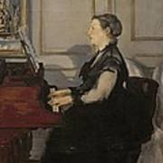 Madame Manet At The Piano Art Print