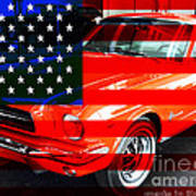 Made In The Usa . Ford Mustang Art Print