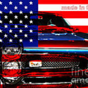 Made In The Usa . Pontiac Gto Art Print