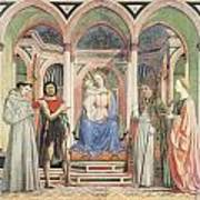 Madonna And Child With Saints Art Print by Domenico Veneziano