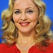 Madonna At The Press Conference Art Print