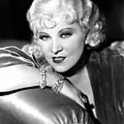 Mae West, Portrait Art Print by Everett