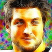 Magical Tim Tebow Face Art Print