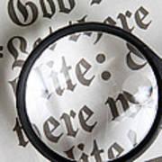 Magnifying News Art Print