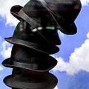 Magritte Hat Stand Art Print