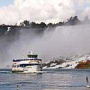 Maid Of The Mist At Niagara Falls Art Print by Mark J Seefeldt