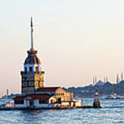 Maiden Tower In Istanbul Art Print
