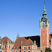 Main Railway Station In Gdansk Art Print