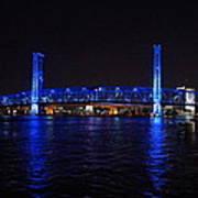 Main Street Bridge At Night Art Print