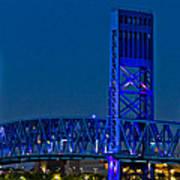 Main Street Bridge Jacksonville Art Print
