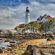 Maine Head Light Art Print
