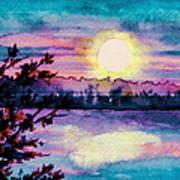 Maine October Sunset Art Print