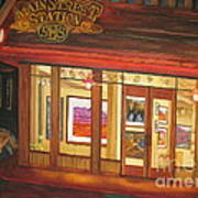 Mainstreet Station Art Print by Vikki Wicks