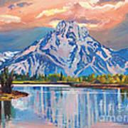 Majestic Blue Mountain Reflections Art Print
