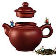 Making Green Tea On A Clay Teapot Art Print by Paul Ge
