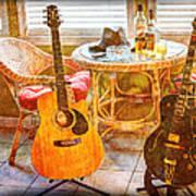 Making Music 004 Art Print by Barry Jones