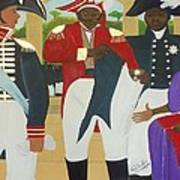 Making Of The Haitian Flag Art Print by Nicole Jean-Louis