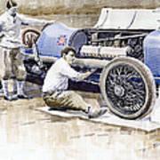 Malcolm Campbell Sunbeam Bluebird 1924 Art Print