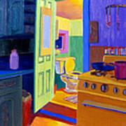 Malden Bathroom 1977 Art Print