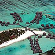 Maldives Aerial Art Print