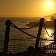 Malibu Sunset Art Print by Micah May