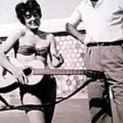 Mama Chris And Gary Cooper In Monte Carlo 1958 Art Print