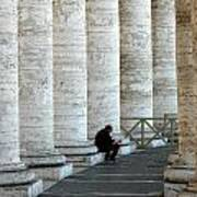 Man And Columns Art Print