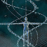 Man And Cyberspace Art Print by Carol and Mike Werner