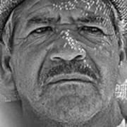 Man And Hat Art Print