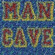 Man Cave Bottle Cap Mosaic Art Print by Paul Van Scott