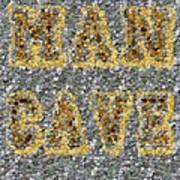 Man Cave Coin Mosaic Art Print by Paul Van Scott