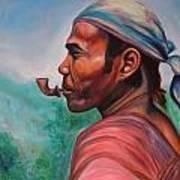 Man In The Hills Of Chiang Rai Art Print