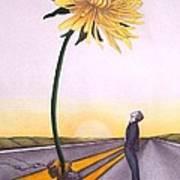 Man Vs. Nature Art Print by Michelle Harrington