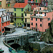 Manarola Houses On The Cinque Terre II Art Print