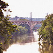 Manayunk Bridge Along The Schuylkill River Art Print