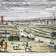 Manchester, England, 1740 Art Print