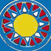 Mandala In Primary Colors Art Print