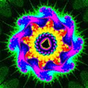 Mandala Textured - Fractal Art Print