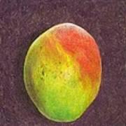 Mango On Plum Art Print