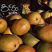 Mangoes And Melons Priced In Euros Art Print by David Evans