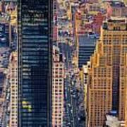 Manhattan Streets From Above Art Print