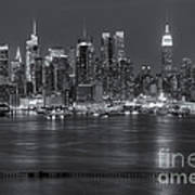 Manhattan Twilight Vii Art Print