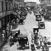 Manilla - Philippine Islands - Escolta Street Scene - C 1901 Art Print