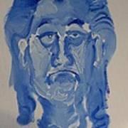 Manne-crusoe Blue Art Print by Jay Manne-Crusoe