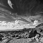 Manorbier Rocks Art Print