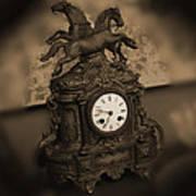 Mantel Clock Art Print