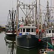 Many Fish Boats Art Print