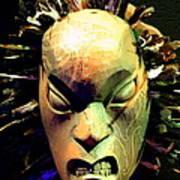Maori Mask Two Art Print