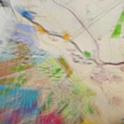 Map Abstract 2 Art Print
